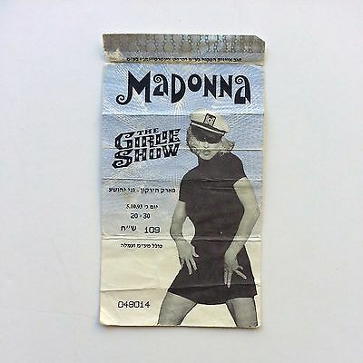 MADONNA The Girlie Show World Tour Ticket Israel 1993 Rare Memorabilia Collect