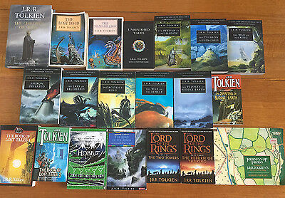 Rare Complete Set 20 Books J.r.r. Tolkien The Lord Of The Rings Hobbit Sauron