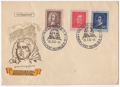 East Germany DDR 1952 Handelfest set on FDC
