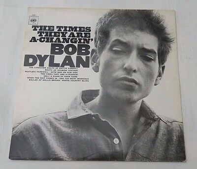 Bob Dylan  Lp - The Times They Are A Changin'   Cbs 32021.nr.mint