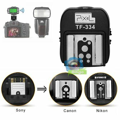 Pixel TF-334 Hot Shoe Converter Adapter For Sony Mi Camera to Canon Nikon Flash