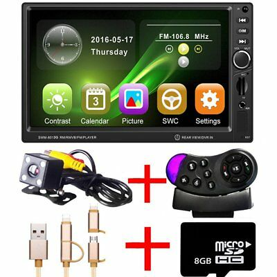 "2 DIN 7"" HD Touch Screen Car MP3/MP5 Bluetooth GPS DVD Player 2 Din Radio Stereo"