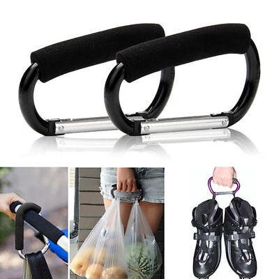 Universal Buggy Clip Baby Pram Pushchair Shopping Big Bag Hook Hands Free Holder
