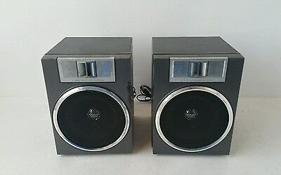 1 x Pair of Toshiba RT-SX4 Radio Cassette Recorder Speakers, Made in Japan