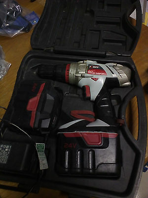 24V Hammer Drill 2 batteries and charger with carry case