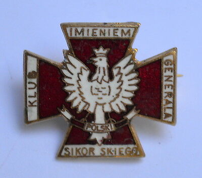 Vintage Perth Polish Club Badge Enamel Pin Sheridan