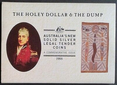 1988 SILVER Australian HOLEY DOLLAR and DUMP Set in original presentation cover