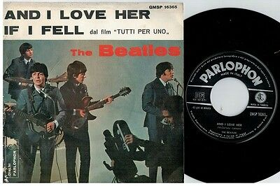 THE BEATLES And I love her + If I fell 45rpm 7' + PS 1964 ITALY EX+