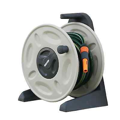 Holman WALL MOUNTED HOSE REEL FITTED 15m, Adjustable Spray Nozzle *Aust Brand