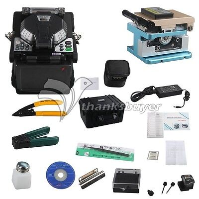 "RY-F600P FTTH Fiber Optic Splicing Machine Optical Fiber Fusion Splicer 5.1"" LCD"
