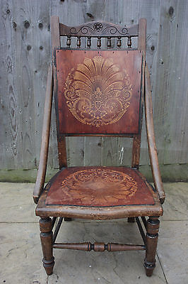 Vintage wooden hand carved chair