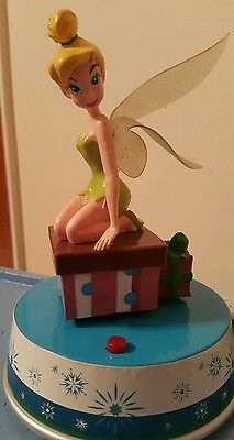 Vintage Disney Tinkerbell Rotating Musical Fairy Figurine By Gemmy Industries