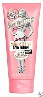 Soap and Glory The Righteous Butter Instant Sunkissed Tint Body Lotion 200ml NEW