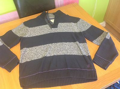 Whitestuff Navy And Grey Striped Jumper Large