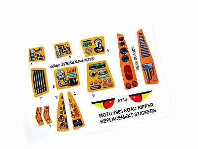 MOTU Masters of the Universe ROAD RIPPER replacement Sticker