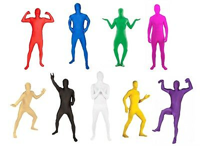 Adult Morph Costume Spandex Body Suit Zentai Lycra Second Skin Costume Black