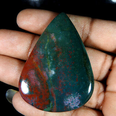 73.25Cts100%natural Beautiful  African Blood Stone Pear Cabochon Gemstones
