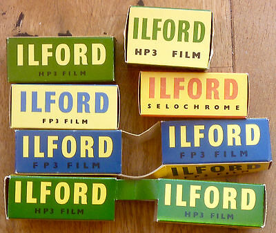 Job lot 1950s Ilford Film packs and shop display, photography, camera interest