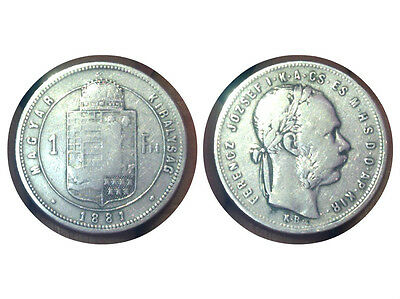 1  Ferenc 1881 Ferencz Jozsef Magyar Kiralysag Fiorino Ungherese Silver Argento