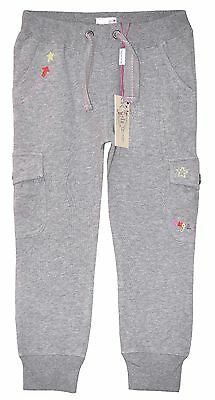 "Girl's ""sugar Pink"" Grey Joggers Joging Pants Trousers 5-6 Yrs"