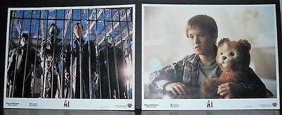 Artificial Intelligence A.I. 2001 Original 2 11x14 U.S lobby cards in Toploaders