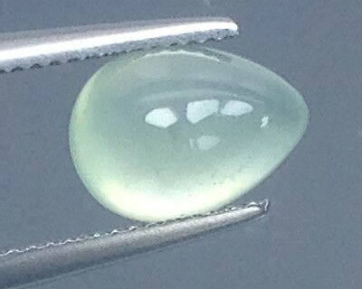 3.55Cts Wow !!! Gorgeous Natural  Prehnite  Gems Pear  (4125)