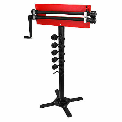 Bench Swager & Stand Roller Bead Rotary Swage Metalwork Hand Tool 45cm Throat