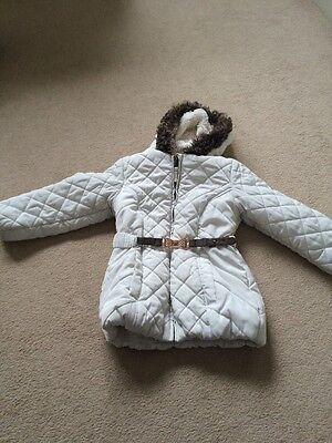 White Marks And Spencer's Coat Girls Age 5-6