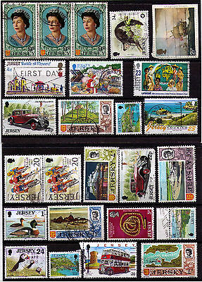 JERSEY ~ Selection of 49 USED Stamps - See all scans. (Lot #1)
