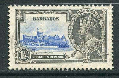 Barbados:1935 Silver Jubilee 1 1/2d stamp SG242 Fine Used CC234