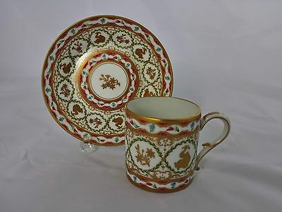 Ancienne French Royale Limoges Cup and Saucer Dauphins (Dolphins)