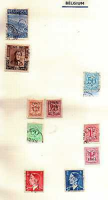 26 x Old Stamps of BELGIUM on 2 album pages
