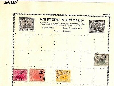 SA255 WESTERN AUSTRALIA  Original album page from old-time collection
