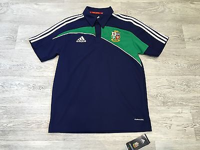 Nwt British Lions Rugby South Africa Adidas Polo Shirt Strip Size Small