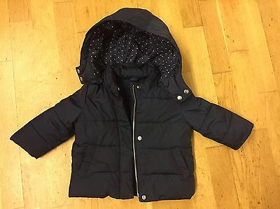 Warm Navy Winter Padded Coat From Baby Gap Boy Girl 1.5-2yrs 18-24 Months
