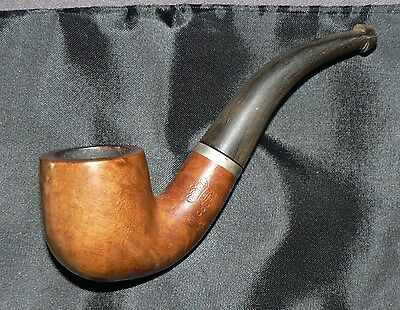 RRR' La Couronne' Vintage Smaller French Briar Tobacco Pipe & Pouch. Used. G.C.