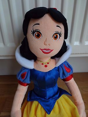 "Disney Store 21"" Tall Snow White Soft Plush Doll"