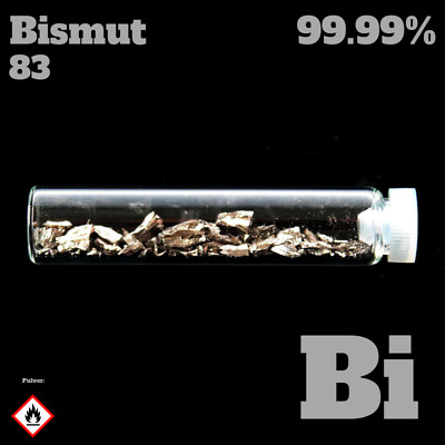 Bismuth 83 Bi - Pure Element Sample - 99,999% - Metal Bismut Wisut Metall Glas