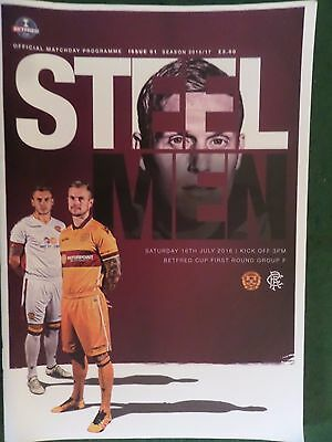 2016/17 Motherwell v Rangers, Bet Fred Cup, MINT