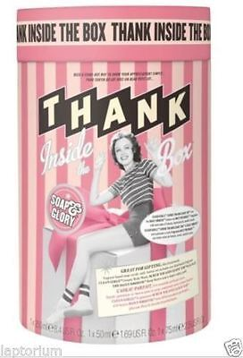 Soap and Glory THANK INSIDE THE BOX Daily Smooth, Clean Girls, Scrub Em GIFT NEW