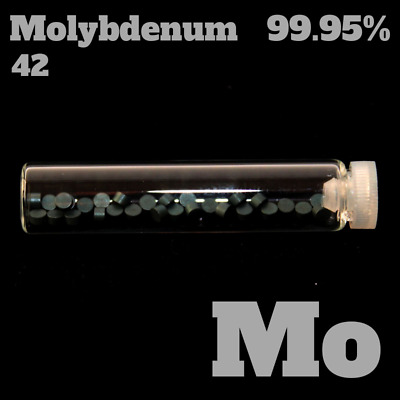 Molybdenum / Molybdän 42 Mo - Pure Element Sample - 99,95% - Metall Probe rein