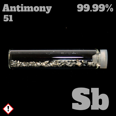 Antimony / Antimon 51 Sb - Pure Element Sample - 99,999%  - Metall Probe rein