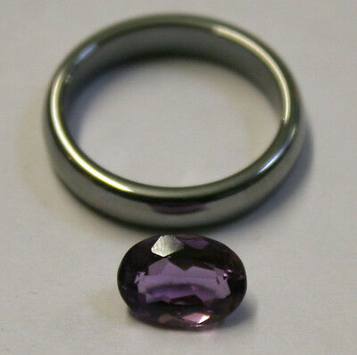 Natural Loose Amethyst Gemstone 10X7Mm Gem 2Ct Faceted Oval Am60A