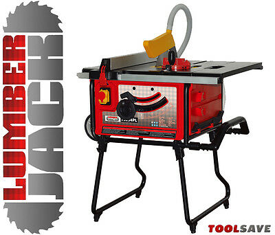 Lumberjack Extendable Table Saw with Professional Belt Driven Motor & Fence 240v