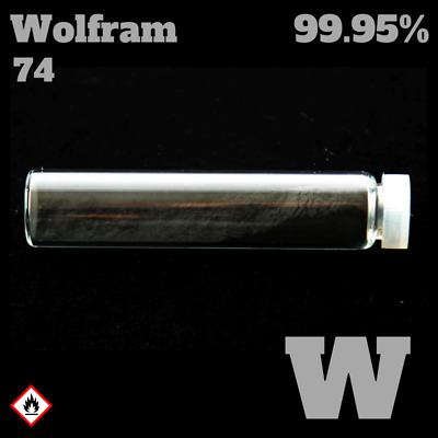 Tungsten / Wolfram 74 W - Pure Element Sample - 99,95%  - Metall Probe rein