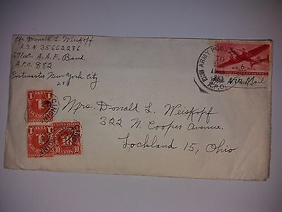 Cover Envelope with letter Army Post