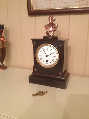 Napoleon Bonaparte-8 Day Antique French Mantel Clock-Timepiece Only-1800`s