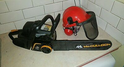 chainsaw McCullough  cs360t Petrol engine and safety hat