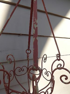 Vintage Antique  wWrought Iron Hanging Planter