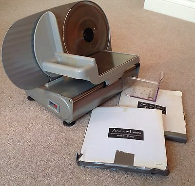 Andrew James Silver As-20 Meat / bread Slicer. Two Blades Included